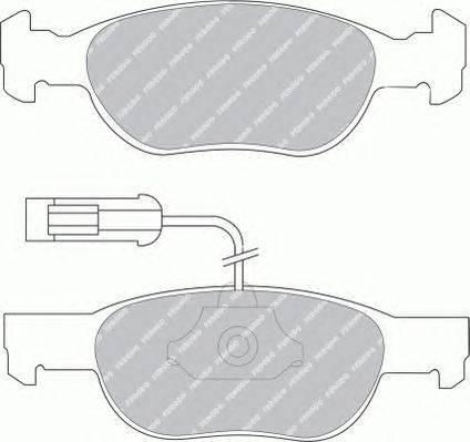 FERODO (НОМЕР: FSL1040) Комплект тормозных колодок, дисковый тормоз