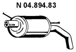 Глушитель выхлопных газов конечный EBERSPÄCHER 04.894.83