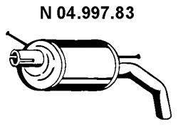 Глушитель выхлопных газов конечный EBERSPÄCHER 04.997.83