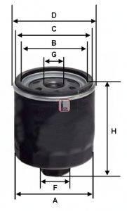 SOFIMA (НОМЕР: S 1310 R) Масляный фильтр