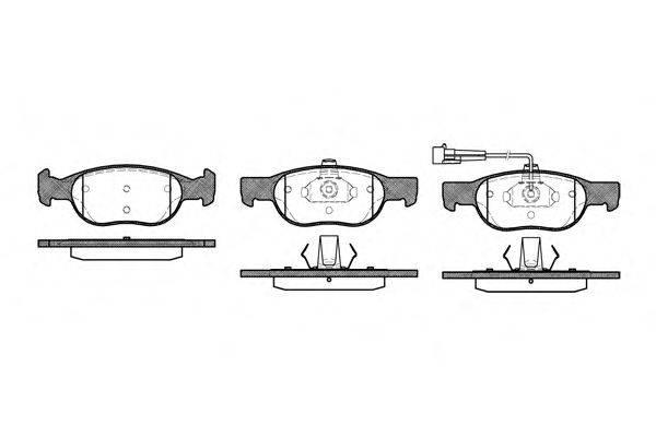 REMSA (НОМЕР: 0588.11) Комплект тормозных колодок, дисковый тормоз