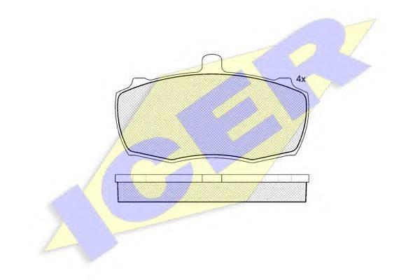 Комплект тормозных колодок, дисковый тормоз ICER 140503