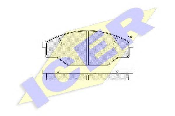 Комплект тормозных колодок, дисковый тормоз ICER 140614