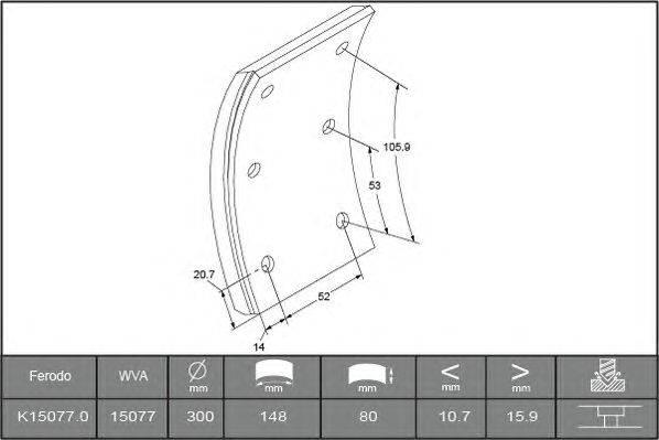 Комплект тормозных башмаков, барабанные тормоза BERAL 1507716000015418