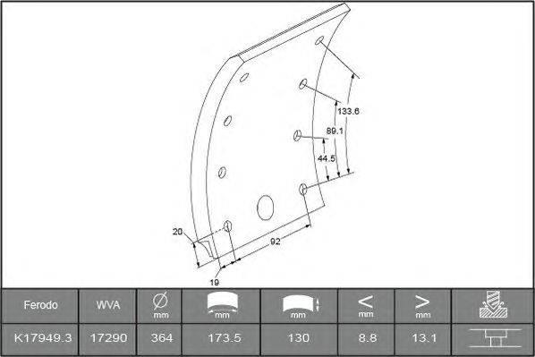 Комплект тормозных башмаков, барабанные тормоза BERAL 1729015400015616