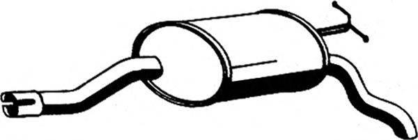 Глушитель выхлопных газов конечный ASMET 01.030