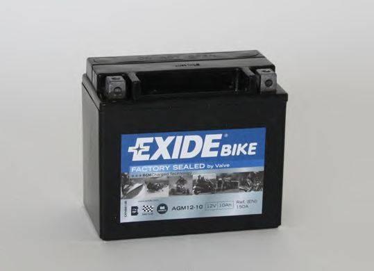 Стартерная аккумуляторная батарея EXIDE AGM12-10