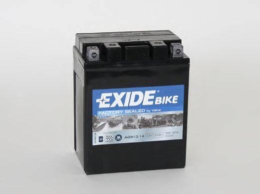 Стартерная аккумуляторная батарея EXIDE AGM12-14