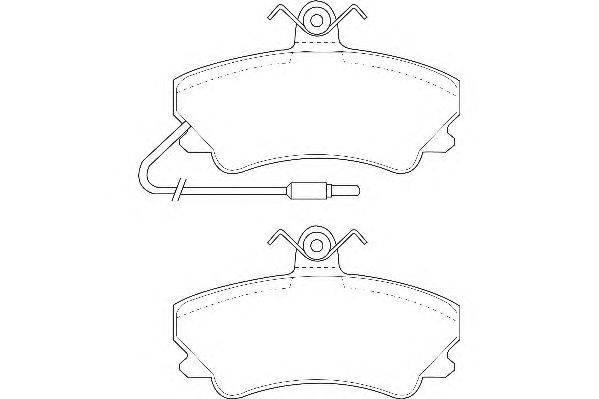 Комплект тормозных колодок, дисковый тормоз WAGNER WBP20236A