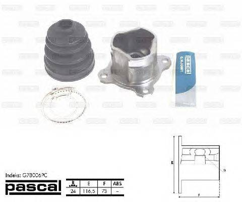 PASCAL (НОМЕР: G78006PC) Шарнирный комплект, приводной вал