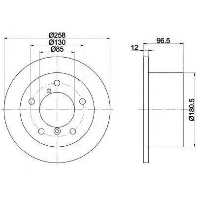 TEXTAR (НОМЕР: 92137503) Тормозной диск