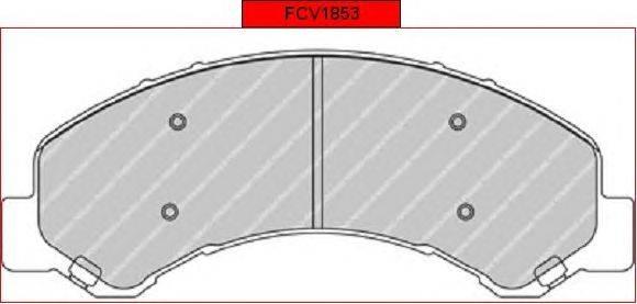 FERODO (НОМЕР: FCV1853) Комплект тормозных колодок, дисковый тормоз