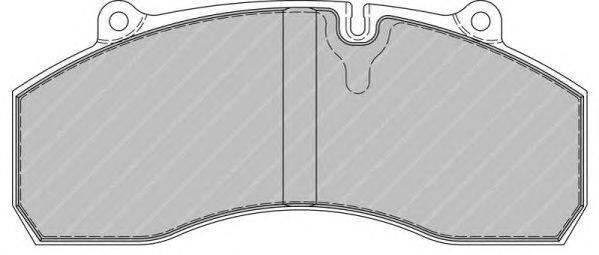 FERODO (НОМЕР: FCV1901B) Комплект тормозных колодок, дисковый тормоз