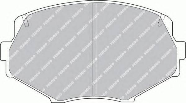 FERODO (НОМЕР: FDB1011) Комплект тормозных колодок, дисковый тормоз