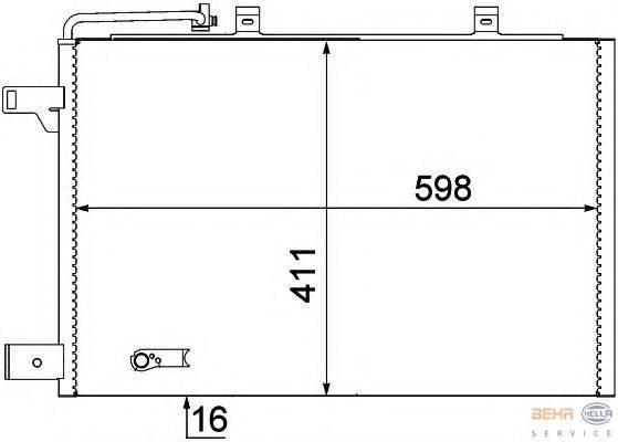 Конденсатор, кондиционер BEHR HELLA SERVICE 8FC 351 301-684
