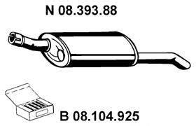Глушитель выхлопных газов конечный EBERSPÄCHER 08.393.88