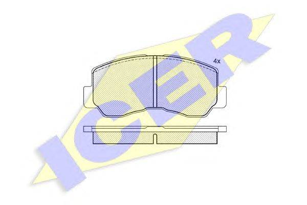 Комплект тормозных колодок, дисковый тормоз ICER 140623