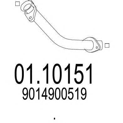 Труба выхлопного газа MTS 01.10151