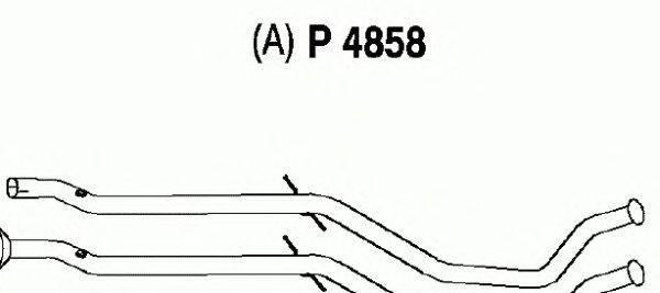 Труба выхлопного газа FENNO P4858