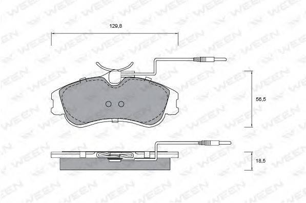 Комплект тормозных колодок, дисковый тормоз WEEN 151-1272