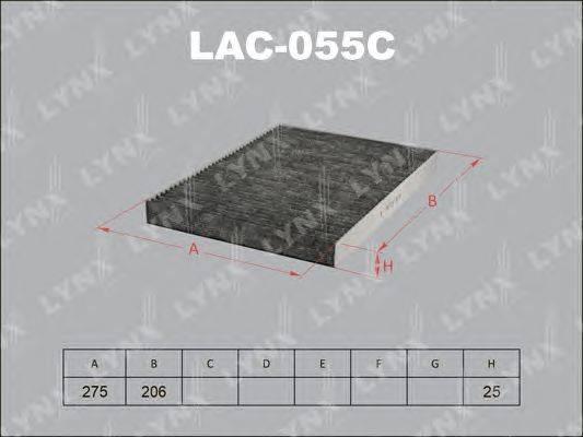 Фильтр, воздух во внутренном пространстве LYNXauto LAC055C