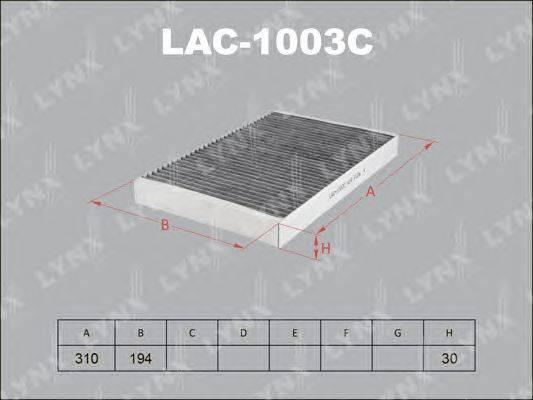 Фильтр, воздух во внутренном пространстве LYNXauto LAC1003C