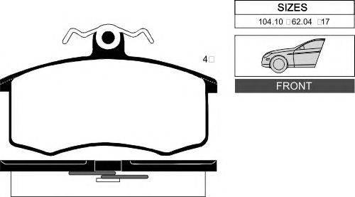 Комплект тормозных колодок, дисковый тормоз GOODWILL 1001 F