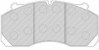 FERODO (НОМЕР: FCV1821B) Комплект тормозных колодок, дисковый тормоз