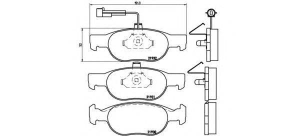 BREMBO (НОМЕР: P 23 057) Комплект тормозных колодок, дисковый тормоз