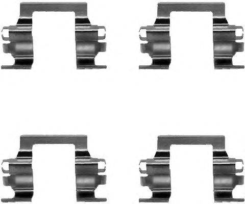 Комплектующие, колодки дискового тормоза MINTEX MBA1117