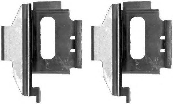 Комплектующие, колодки дискового тормоза MINTEX MBA1282