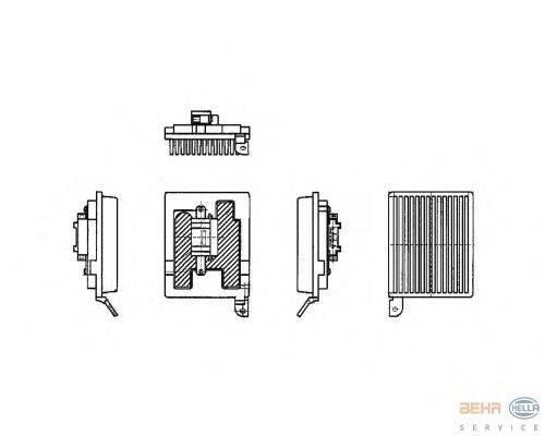 Регулятор, вентилятор салона BEHR HELLA SERVICE 5HL 351 321-181