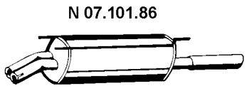 Глушитель выхлопных газов конечный EBERSPÄCHER 07.101.86