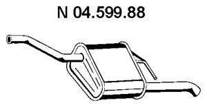 Глушитель выхлопных газов конечный EBERSPÄCHER 04.599.88