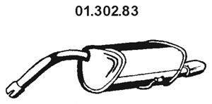 Глушитель выхлопных газов конечный EBERSPÄCHER 01.302.83