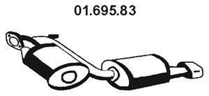 Глушитель выхлопных газов конечный EBERSPÄCHER 01.695.83