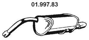 Глушитель выхлопных газов конечный EBERSPÄCHER 01.997.83