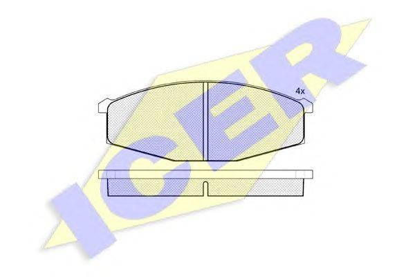 Комплект тормозных колодок, дисковый тормоз ICER 140347