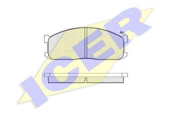 Комплект тормозных колодок, дисковый тормоз ICER 140687