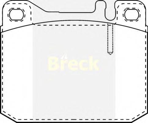 Комплект тормозных колодок, дисковый тормоз BRECK 20341 00 701 10