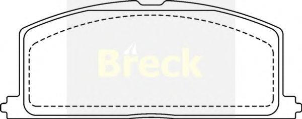 Комплект тормозных колодок, дисковый тормоз BRECK 20870 00 701 10