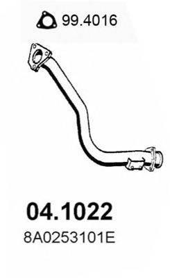 Труба выхлопного газа ASSO 04.1022