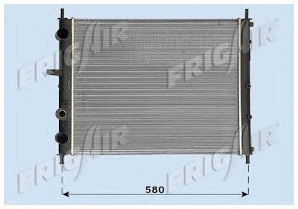 Радиатор, охлаждение двигателя FRIGAIR 0104.3097