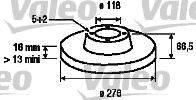 Тормозной диск VALEO 187149