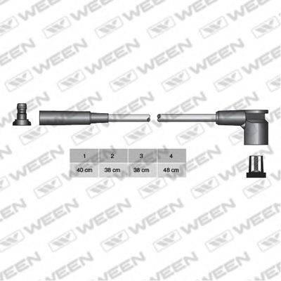Комплект проводов зажигания WEEN 110-4143