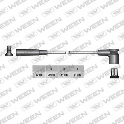 Комплект проводов зажигания WEEN 110-4233