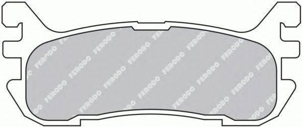 FERODO (НОМЕР: FDB1012) Комплект тормозных колодок, дисковый тормоз