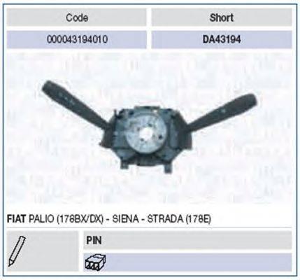 Выключатель на колонке рулевого управления MAGNETI MARELLI 000043194010