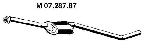 Средний глушитель выхлопных газов EBERSPÄCHER 07.287.87