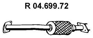 Труба выхлопного газа EBERSPÄCHER 04.699.72
